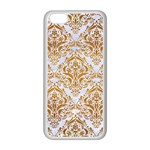 DAMASK1 WHITE MARBLE & YELLOW GRUNGE (R) Apple iPhone 5C Seamless Case (White) Front