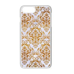 Damask1 White Marble & Yellow Grunge (r) Apple Iphone 7 Plus Seamless Case (white) by trendistuff