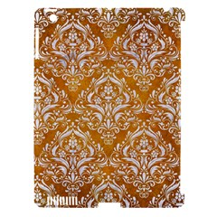 Damask1 White Marble & Yellow Grunge Apple Ipad 3/4 Hardshell Case (compatible With Smart Cover) by trendistuff