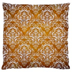 Damask1 White Marble & Yellow Grunge Standard Flano Cushion Case (two Sides) by trendistuff