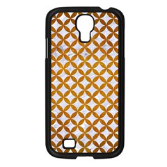 Circles3 White Marble & Yellow Grunge (r) Samsung Galaxy S4 I9500/ I9505 Case (black) by trendistuff