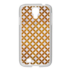 Circles3 White Marble & Yellow Grunge (r) Samsung Galaxy S4 I9500/ I9505 Case (white) by trendistuff