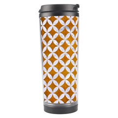 Circles3 White Marble & Yellow Grunge Travel Tumbler by trendistuff