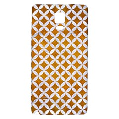 Circles3 White Marble & Yellow Grunge Galaxy Note 4 Back Case by trendistuff