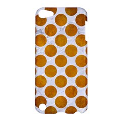 Circles2 White Marble & Yellow Grunge (r) Apple Ipod Touch 5 Hardshell Case by trendistuff