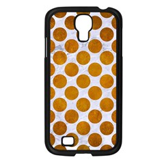 Circles2 White Marble & Yellow Grunge (r) Samsung Galaxy S4 I9500/ I9505 Case (black) by trendistuff