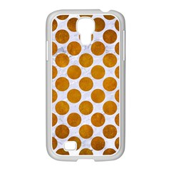 Circles2 White Marble & Yellow Grunge (r) Samsung Galaxy S4 I9500/ I9505 Case (white) by trendistuff