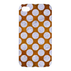 Circles2 White Marble & Yellow Grungecircles2 White Marble & Yellow Grunge Apple Iphone 4/4s Hardshell Case by trendistuff