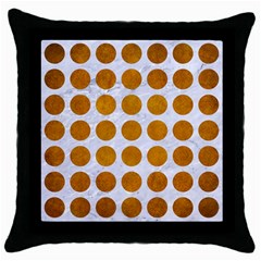 Circles1 White Marble & Yellow Grunge (r) Throw Pillow Case (black) by trendistuff