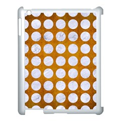 Circles1 White Marble & Yellow Grunge Apple Ipad 3/4 Case (white) by trendistuff