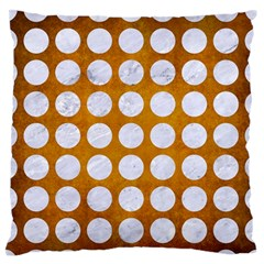 Circles1 White Marble & Yellow Grunge Standard Flano Cushion Case (one Side) by trendistuff