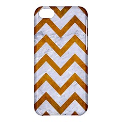 Chevron9 White Marble & Yellow Grunge (r) Apple Iphone 5c Hardshell Case by trendistuff