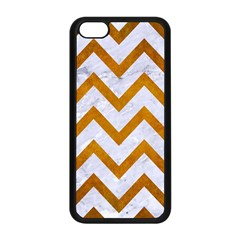 Chevron9 White Marble & Yellow Grunge (r) Apple Iphone 5c Seamless Case (black) by trendistuff