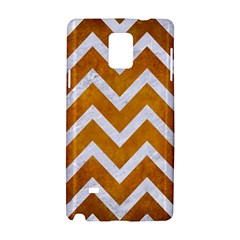 Chevron9 White Marble & Yellow Grunge Samsung Galaxy Note 4 Hardshell Case
