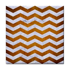 Chevron3 White Marble & Yellow Grunge Face Towel by trendistuff
