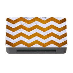Chevron3 White Marble & Yellow Grunge Memory Card Reader With Cf by trendistuff
