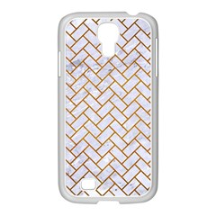 Brick2 White Marble & Yellow Grunge (r) Samsung Galaxy S4 I9500/ I9505 Case (white) by trendistuff