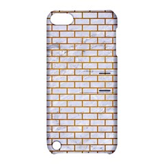 Brick1 White Marble & Yellow Grunge (r) Apple Ipod Touch 5 Hardshell Case With Stand by trendistuff