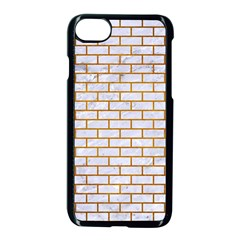 Brick1 White Marble & Yellow Grunge (r) Apple Iphone 7 Seamless Case (black) by trendistuff