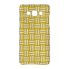 Woven1 White Marble & Yellow Denim Samsung Galaxy A5 Hardshell Case  by trendistuff