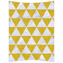 Triangle3 White Marble & Yellow Denim Back Support Cushion by trendistuff