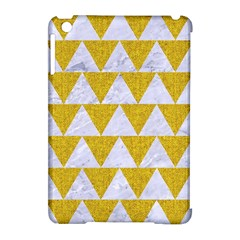 Triangle2 White Marble & Yellow Denim Apple Ipad Mini Hardshell Case (compatible With Smart Cover) by trendistuff