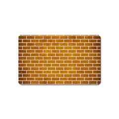 Brick1 White Marble & Yellow Grunge Magnet (name Card) by trendistuff
