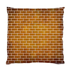 Brick1 White Marble & Yellow Grunge Standard Cushion Case (two Sides) by trendistuff