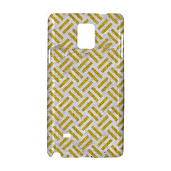Woven2 White Marble & Yellow Denim (r) Samsung Galaxy Note 4 Hardshell Case by trendistuff