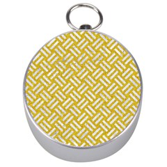 Woven2 White Marble & Yellow Denim Silver Compasses by trendistuff