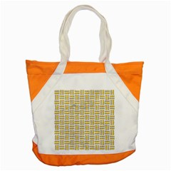 Woven1 White Marble & Yellow Denim (r) Accent Tote Bag by trendistuff