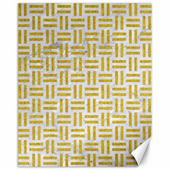 Woven1 White Marble & Yellow Denim (r) Canvas 16  X 20   by trendistuff