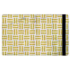 Woven1 White Marble & Yellow Denim (r) Apple Ipad 2 Flip Case by trendistuff