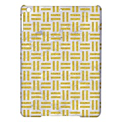 Woven1 White Marble & Yellow Denim (r) Ipad Air Hardshell Cases by trendistuff