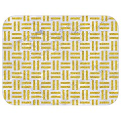 Woven1 White Marble & Yellow Denim (r) Full Print Lunch Bag by trendistuff