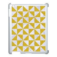 Triangle1 White Marble & Yellow Denim Apple Ipad 3/4 Case (white) by trendistuff