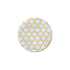 Tile1 White Marble & Yellow Denim (r) Golf Ball Marker (10 Pack) by trendistuff