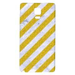 Stripes3 White Marble & Yellow Denim (r) Galaxy Note 4 Back Case by trendistuff