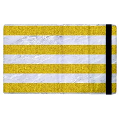 Stripes2white Marble & Yellow Denim Apple Ipad 2 Flip Case by trendistuff