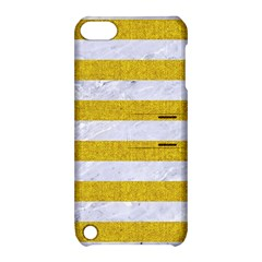 Stripes2white Marble & Yellow Denim Apple Ipod Touch 5 Hardshell Case With Stand by trendistuff