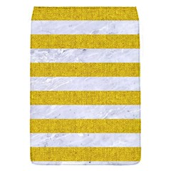 Stripes2white Marble & Yellow Denim Flap Covers (s)  by trendistuff