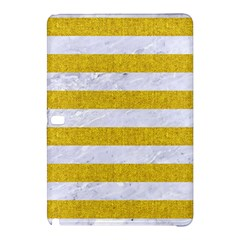 Stripes2white Marble & Yellow Denim Samsung Galaxy Tab Pro 12 2 Hardshell Case by trendistuff