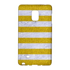 Stripes2white Marble & Yellow Denim Galaxy Note Edge by trendistuff