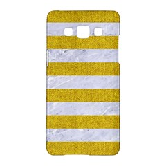 Stripes2white Marble & Yellow Denim Samsung Galaxy A5 Hardshell Case  by trendistuff