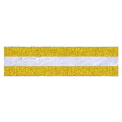 Stripes2white Marble & Yellow Denim Satin Scarf (oblong) by trendistuff