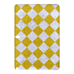Square2 White Marble & Yellow Denim Samsung Galaxy Tab Pro 12 2 Hardshell Case by trendistuff
