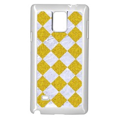 Square2 White Marble & Yellow Denim Samsung Galaxy Note 4 Case (white) by trendistuff