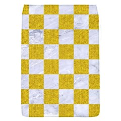 Square1 White Marble & Yellow Denim Flap Covers (s)  by trendistuff