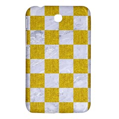 Square1 White Marble & Yellow Denim Samsung Galaxy Tab 3 (7 ) P3200 Hardshell Case  by trendistuff