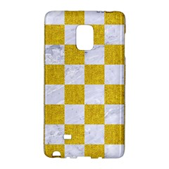 Square1 White Marble & Yellow Denim Galaxy Note Edge by trendistuff